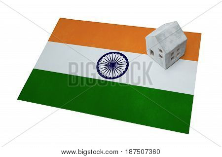 Small House On A Flag - India