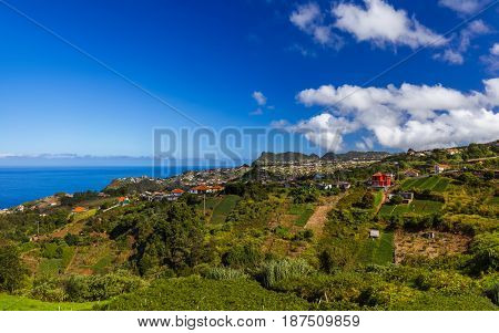Village Boaventura in Madeira Portugal - travel background
