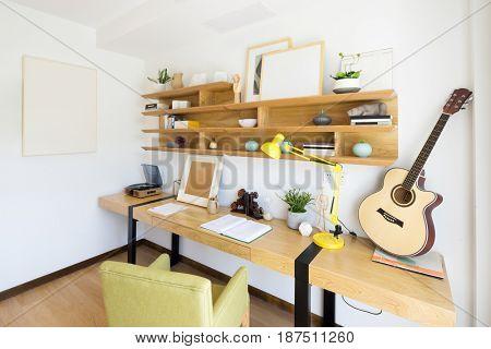 interior of modern study