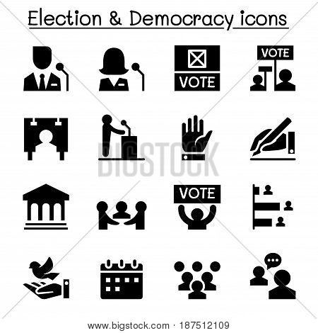 Voting Democracy Election icon Vector illustration Graphic design