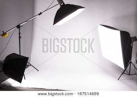 Backstage from studio shooting of any object