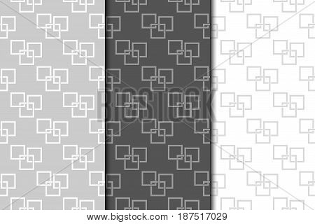 Geometric seamless pattern. Abstract background with square shape elements. Vector illustration