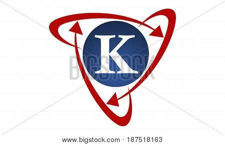 This image describe about  Online Marketing Business Distribution Technology Letter K
