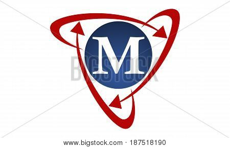 This image describe about  Online Marketing Business Distribution Technology Letter M