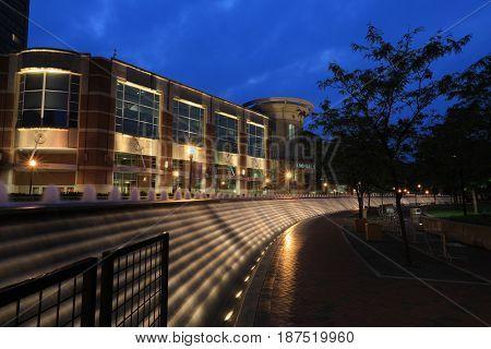 LEXINGTON, KENTUCKY - MAY 12, 2017:  The Lexington Center is a convention, sports and event arena in the heart of Lexington, Kentucky.