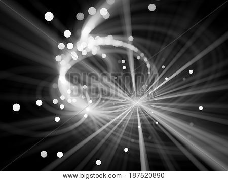 Glowing star explosion texture with particles computer generated abstract intensity map background black and white 3D rendering