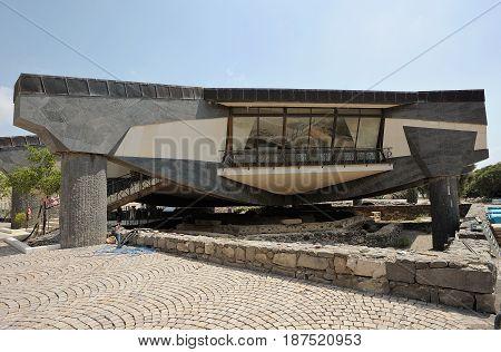 Modern Memorial Over Old Octagonal Church