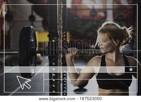 Strength Fitness Exercise Get FIt Web Design Template Copy Space