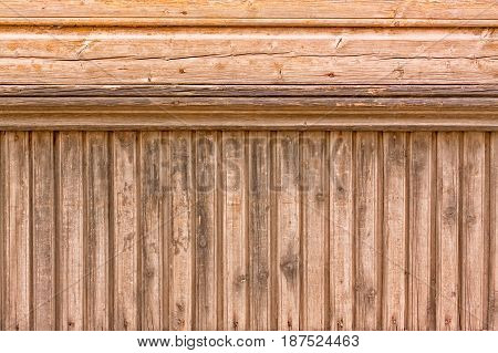 Wooden Panels Of An Estonian House