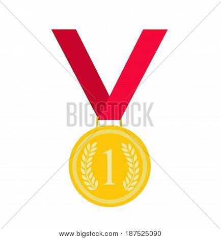 gold medal vector illustration on white background