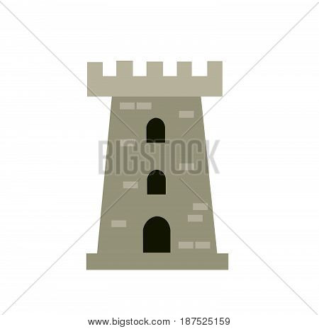 castle tower vector illustration on white background