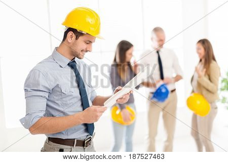 Young Construction Engineer