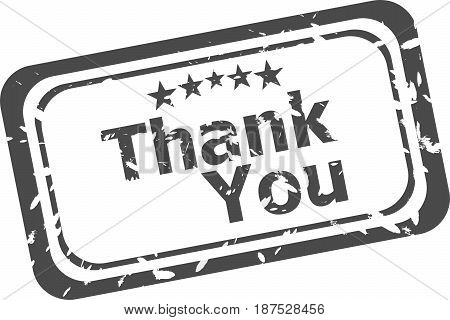 Stylized Stamp Showing The Term Thank You. All On White Background