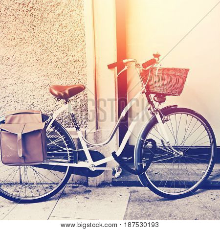 Vintage Bicycle With Busket