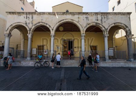 HERAKLION GREECE - JULY 16 2016: The Museum of Visual Arts (Museum of Plastic Arts) the former St. Mark Basilica.