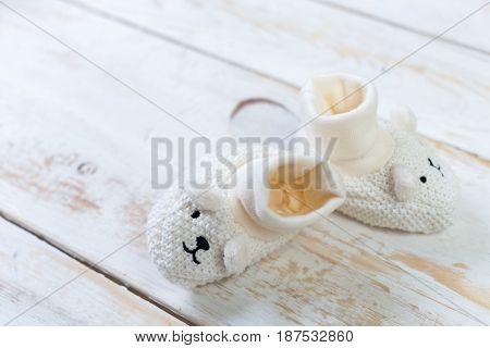 Collection of items for babies on the table