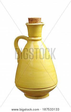 Ceramics jug isolated on a white background
