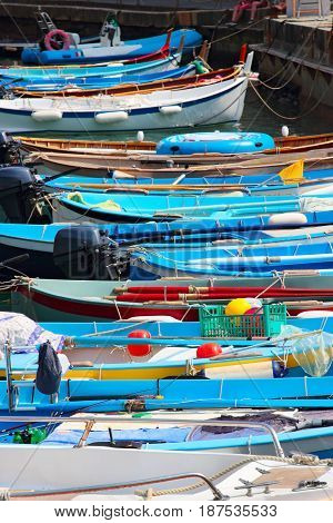 Bright Blue Boats