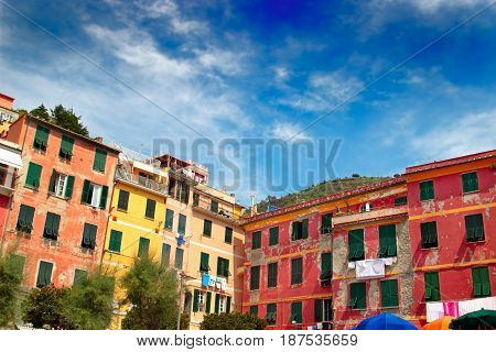 Bright Colorful Houses In Vernazza