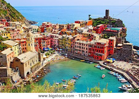 Old Houses In Vernazza, Cinque Terre