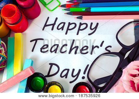 Teacher's day holiday . copy space .