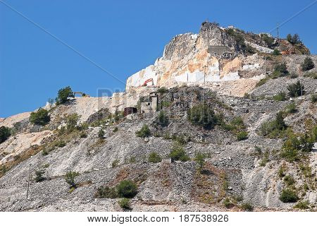 Mountain With White Marble Quarries