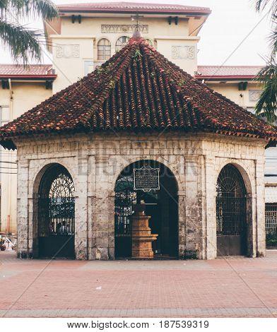 Original Magellan's Cross Chapel In Cebu City Philippines