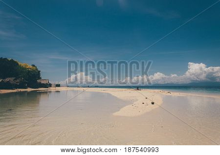 Beautiful Sand Bar By The Beach In Bantayan Island