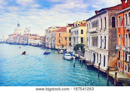 Beautiful Grand Canal In Venice