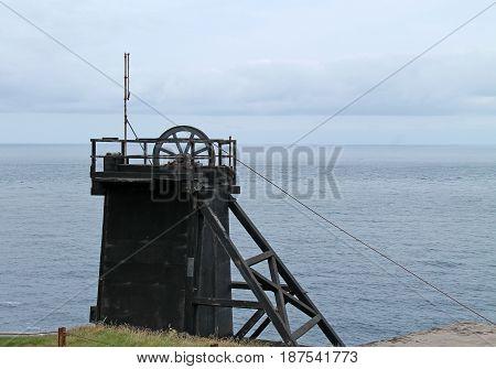 The Headstocks of a Vintage Coastal Tin Mine.