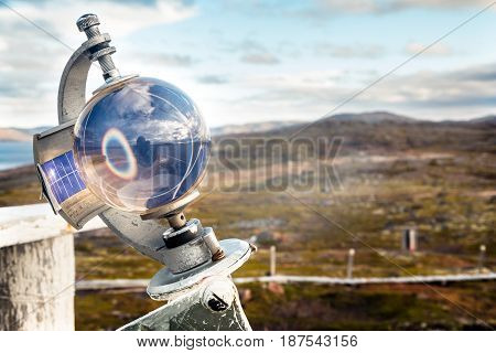 Meteorological instrument for cloud cover measurement in Teriberka Russia