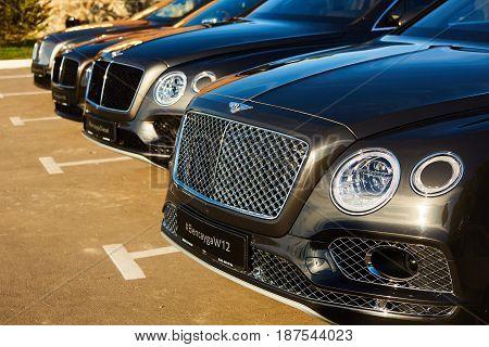 Kiev, Ukraine - 14 May 2014: Bentley Motorsport celebrates the opening of a new dealer center in Kiev.
