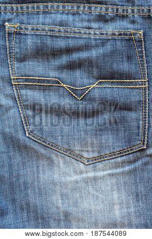 Blue Jeans Back Pocket For Background