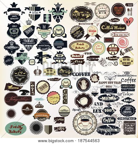 Huge collection of vector labels badges logotypes