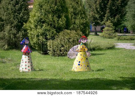 Gomel, Belarus - May 20, 2017: Small Architectural Forms In A Summer Park.