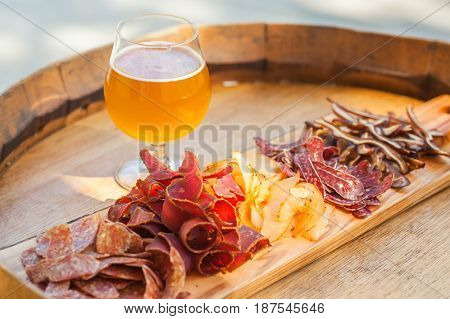 Pale Ale And Jerky