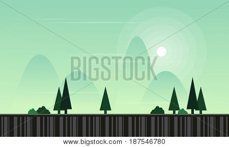 Collection stock game background landscape vector flat