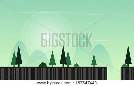 Vector flat game background with landscape collection stock