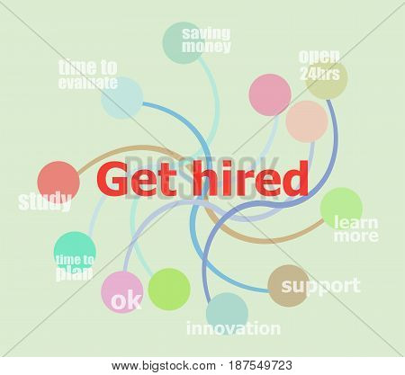 Get Hired. Business Data Visualization. Process Chart