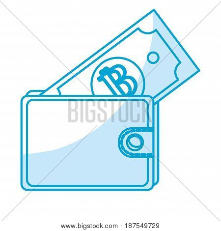 silhouette nice wallet to save bill money, vector illustration