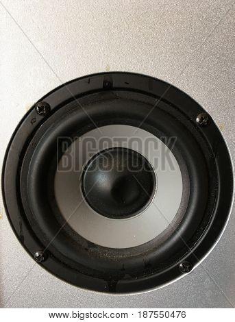 Broken music audio large loud speaker background