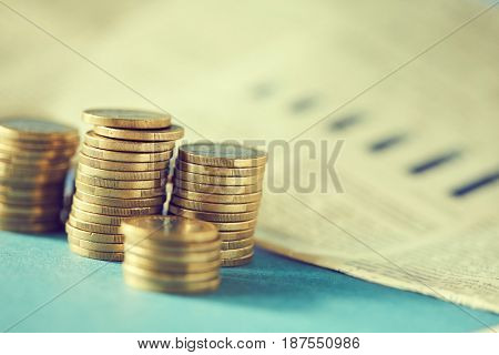 stacks of golden coins (euros)