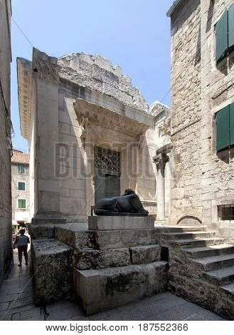 Jupiter temple (baptistry of St John the baptist) in Diocletian palace Split Croatia