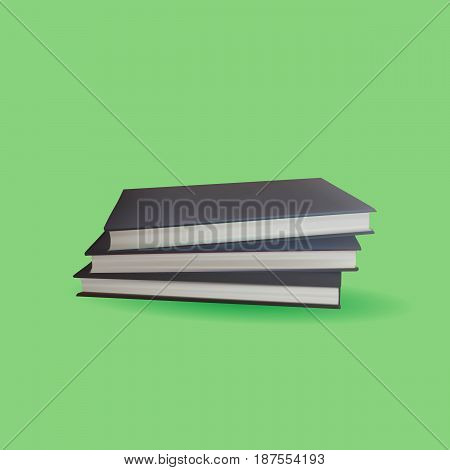 Encyclopedia Book with Green Background, Vector, Illustration