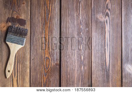 Top View Of The Handling Of Wooden Boards