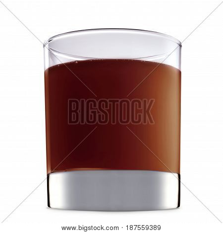 Original Irish Cream Liqueuron alcohol cocktail or chocolate mocktail in classic glass with brown beverage isolated on white background