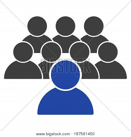 Collective flat vector pictogram. An isolated illustration on a white background.