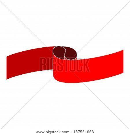 Banner red. Emblem modern symbol of business. Set blank sticker labeling. Elegant form of the logo for sale. Colorful template for badge tag wrapping etc. Design element. Vector illustration