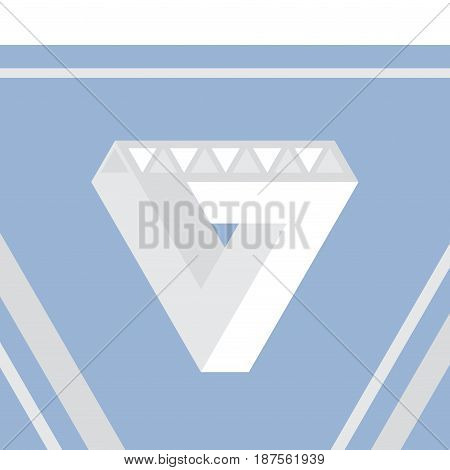 Impossible triangle, optical illusion, vector illustration eps10