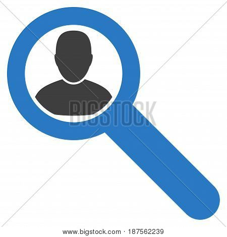 Locate User flat vector illustration. An isolated illustration on a white background.